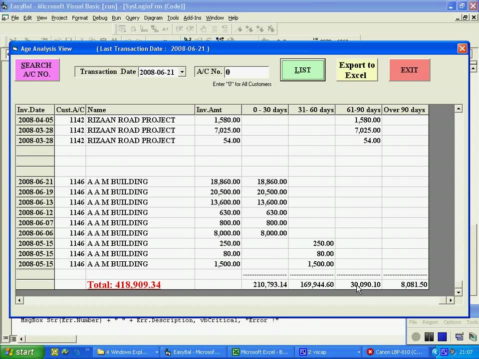 Day book entry  Reports - YouTube - ms excel for accounting