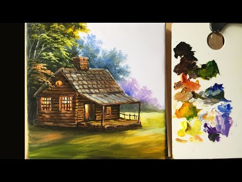 Painting The Basic House In Acrylics - Lesson 1