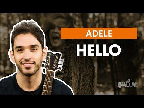 Hello - Adele (aula de violão completa)