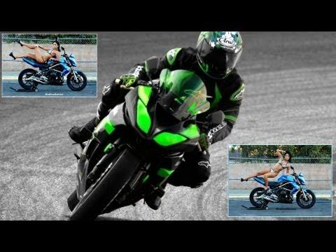 Sportbikes on the Racetrack - Kawasaki Ninja + Motorcycle Photo Shoot