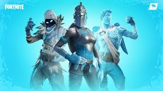 FORTNITE-NEW LEGENDARY ICE SKINS PACK in the FORTNITE SHOP TODAY (RAVEN, ANGEL and CAVALEIRA RUBRA)