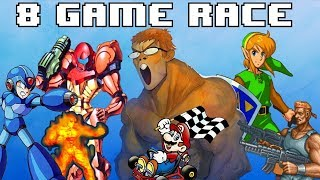 8 Game SNES Race vs Oatsngoats and albeees