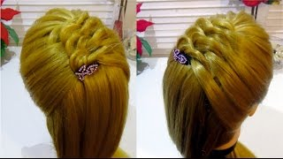 Прическа на каждый день с плетением Hairstyle for every day