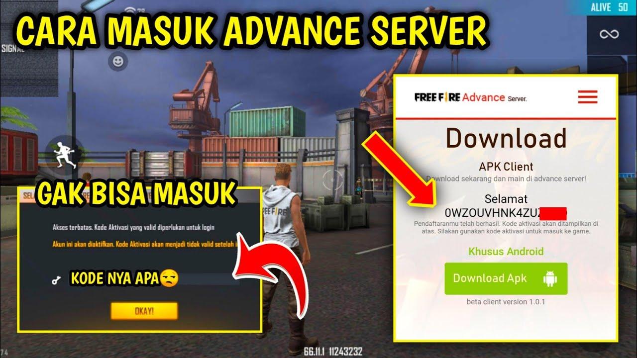 Cara Dapat K0de Aktlvasl Cara Masuk Advance Server Free Fire Youtube