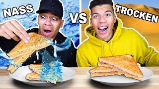 NASSES ESSEN VS TROCKENES ESSEN CHALLENGE !!! | Kelvin und Marvin