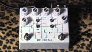 Function Fx THE THIRD RAIL dual overdrive distortion demo with Les Paul & Dr Z Antidote