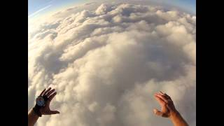 Diving through the clouds