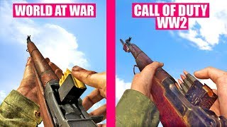 Call of Duty WW2 Gun Sounds vs Call of Duty World At War