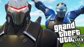 GTA 5 Mods - FORTNITE MOD w/ OMEGA & CARBIDE (GTA 5 Mods Gameplay)