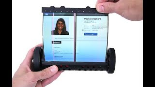 A flexible, Touch-Screen tablet that can Roll and Scroll !!!