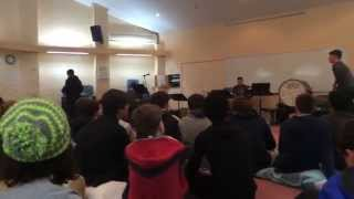 Me and some friends surprise the school with a unusually long song....