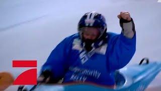 Halbfinale 1: Staffel-Rennen im Einzel-Kajak | Die ProSieben Wintergames 2018 | ProSieben