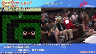 Summer Games Done Quick 2014 - Part 118 - Legend Of Zelda: Oracle Of Seasons