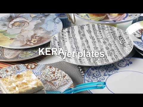 Tableware digital printing becomes a reality with KERAjet plates