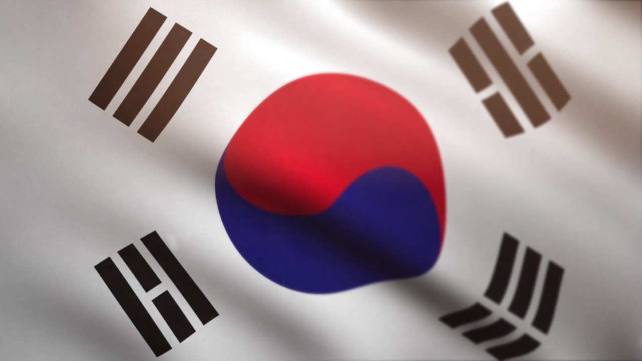 South korean flag waving animated using mir plug in after - Picture of a korean flag ...