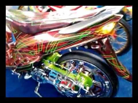 modifikasi motor mio airbrush terbaru