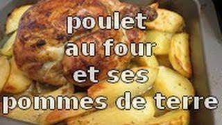 recette du poulet au four et ses pommes de terre