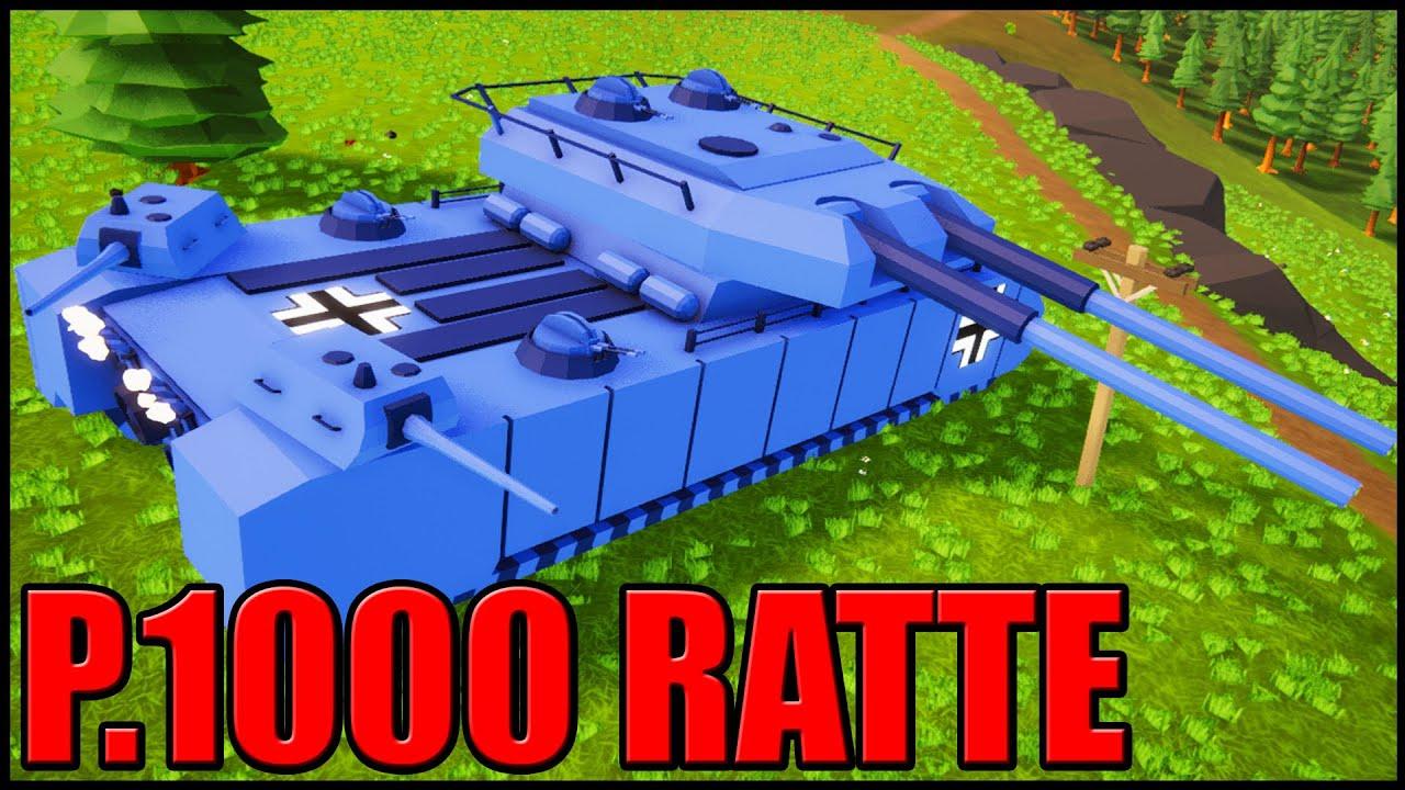 Download German P.1000 RATTE SUPER TANK! - Total Tank Simulator
