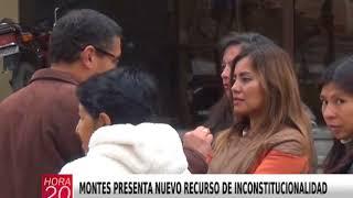 MONTES PRESENTA NUEVO RECURSO DE INCONSTITUCIONALIDAD