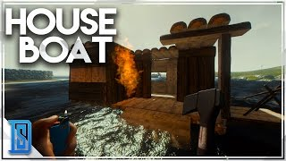The Forest Multiplayer Pt.16 -HOUSE BOATS MULTIPLAYER/DIY BOATING!(patch .40)