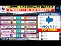 Jadwal Liga Inggris Pekan 8 | Leicester vs Man united | Klasemen Premier League 2021 | Live Mola Tv