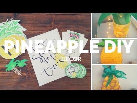 Pineapply Decor DIY * Pineapple theme party decor *Pineapple DIY