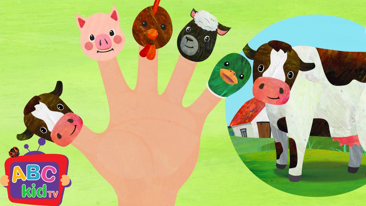 Finger Family Farm Animals 2d Cocomelon Abckidtv Nursery Rhymes Kids Songs You