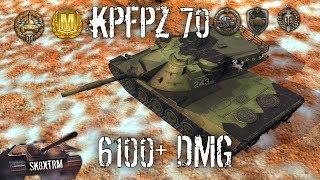 KpfPz 70 6100 Dmg 1 vs 3 Wot Blitz