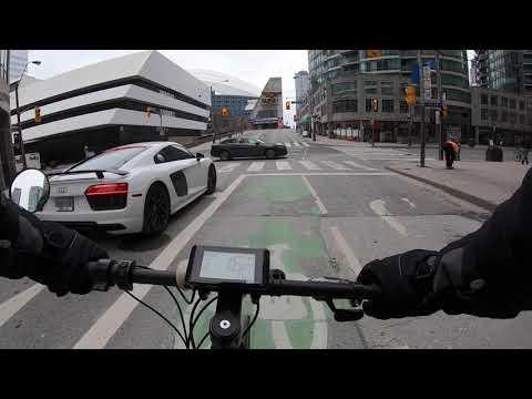 FAST 750W E-Bike OnBoard Ride Toronto COVID Lockdown