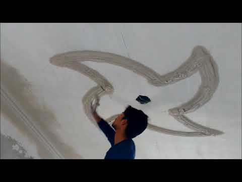 HOW pop  designs are made on ceilings.
