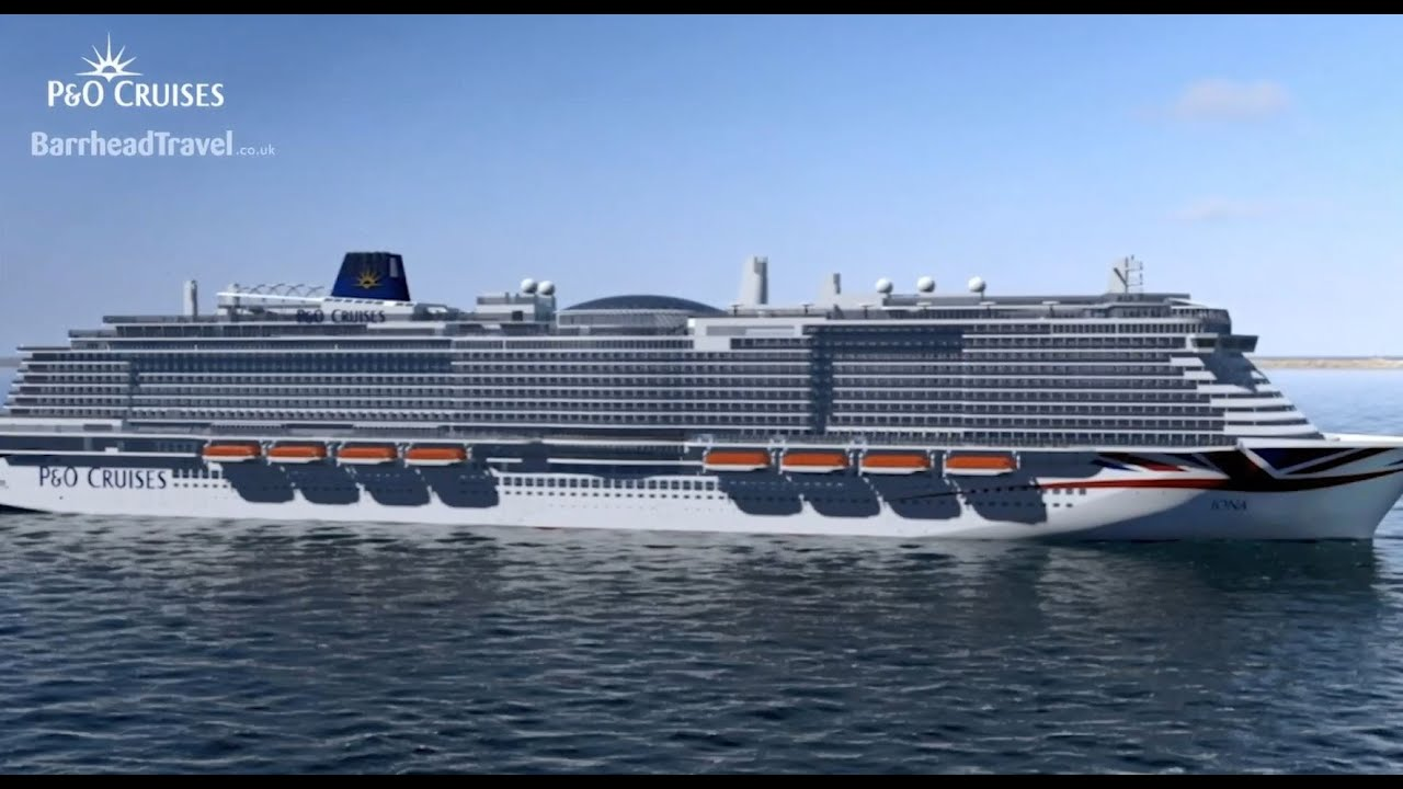 Worlds Largest Cruise Ship 2020.New P O Cruises Ship Iona Arriving 2020