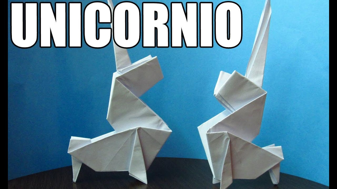Como hacer un unicornio de papel figuras de papel youtube - Como hacer un estor enrollable paso a paso ...