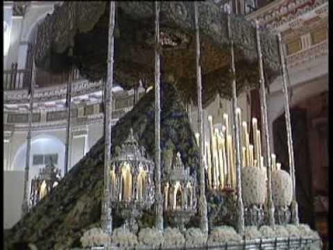 Resultado de imagen de Palio de la Virgen de la Merced de Pasión Saliendo de San Hermenegildo 2003