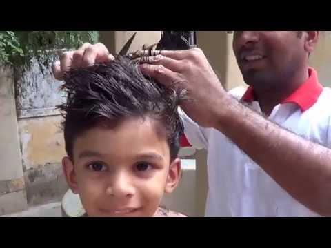 Boys Hair Cut Using Scissors