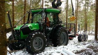 Skogsanpassad Deutz-Fahr 5090G med traktormonterad Mowi P25