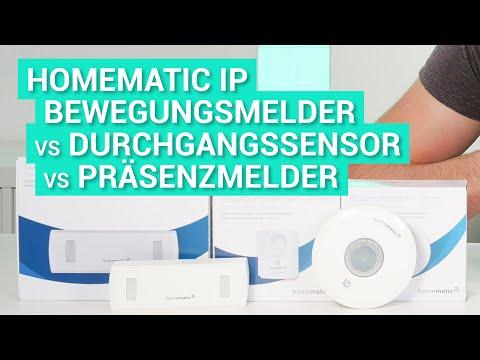 Homematic IP Bewegungsmelder, Präsenzmelder & Durchgangssensor - Vergleich und meine Erfahrungen