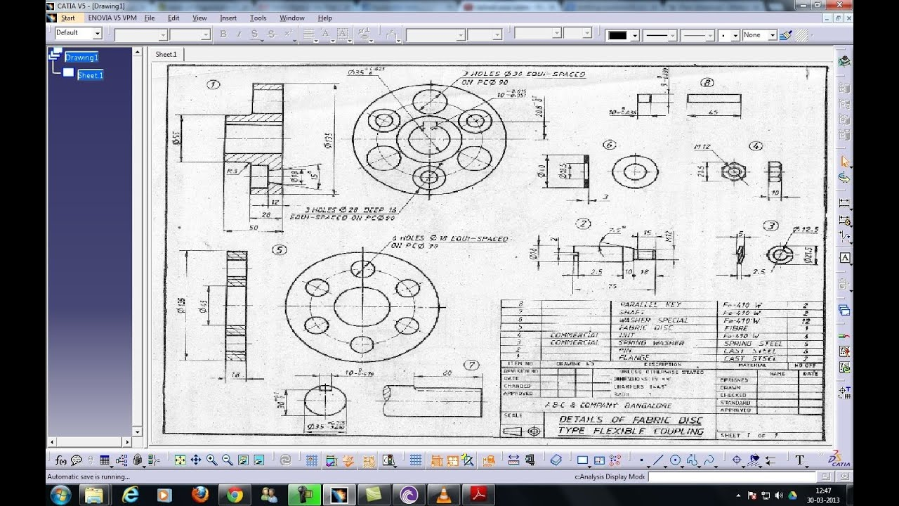Catia V5 Tutorial Drafting Workbench Ii Inserting Sheets