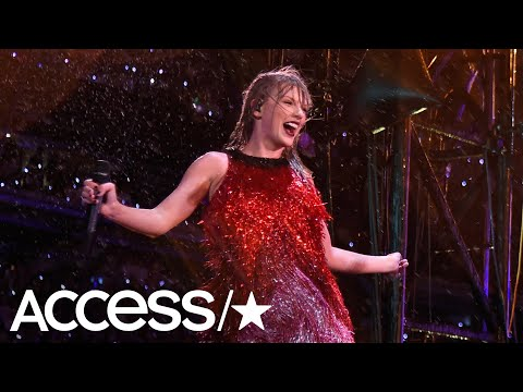 Taylor Swift Laughs Off A Fall During Her Concert | Access