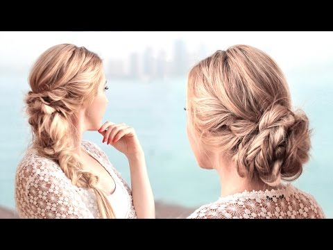 Prom hairstyles ❤ Wedding updo with braids ❤ Bridal/bridesmaid long hair tutorial