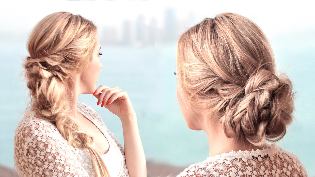prom hairstyles wedding updo with braids bridal bridesmaid. Black Bedroom Furniture Sets. Home Design Ideas