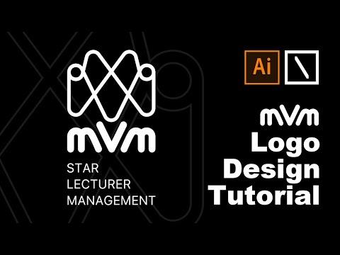 MVM Logo Design | Adobe Illustrator Tutorial Step by Step. thumbnail