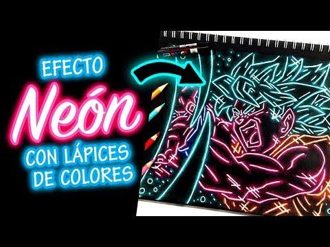 NEON ART CHALLENGE / DIBUJANDO A GOKU - Trada Art