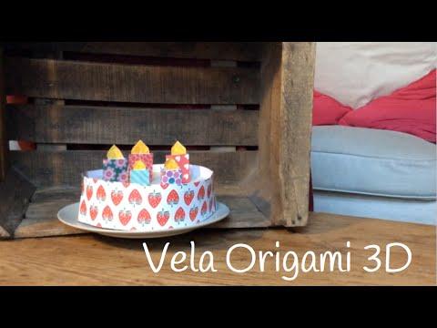 Origami fácil para niños: velas en 3D para iluminar con alegría toda la casa