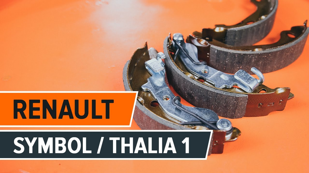 How to replace brake drum and brake shoes on RENAULT SYMBOL/THALIA 1  [TUTORIAL AUTODOC]