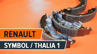Replacing Brake Shoes yourself video instruction on RENAULT SYMBOL / THALIA