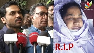 Karthi, Kovai Sarala, Nassers's condolence speech to Kalpana's Death