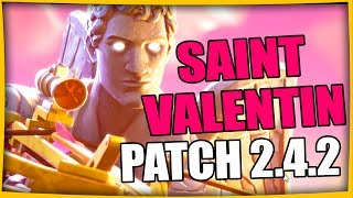 THE SKIN OF THE SAINT VALENTIN PATCH 2.4.2 FORTNITE BATTLE ROYALE Fr