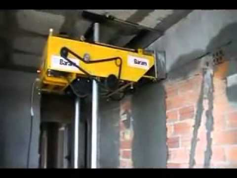 WALL PLASTERING MACHINE YouTube