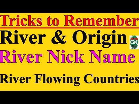 GK Tricks | Rivers & Origin | Rivers Nick Names | River Flowing Countries | UPSC SSC IBPS RAILWAYS