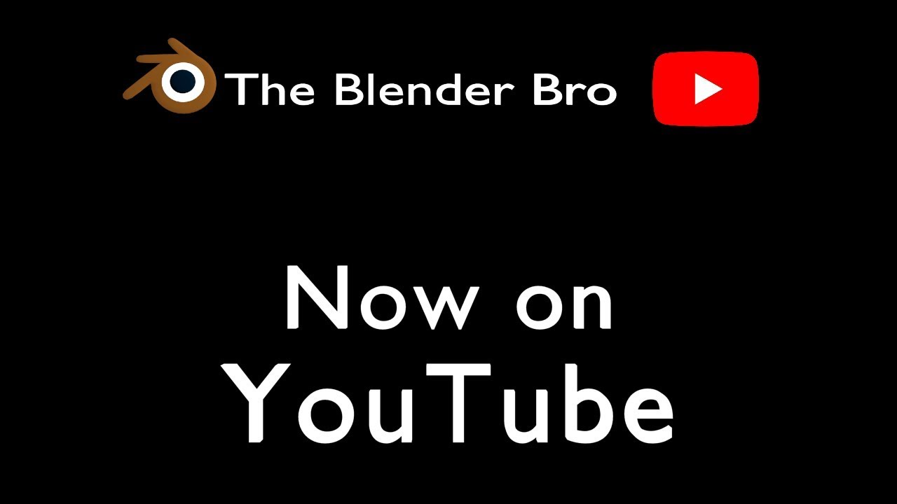 The Blender Bro - Official YouTube Channel Introduction/Channel Trailer